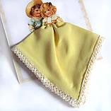 Носовой платок желтый С любовью! на подарок, фото 2