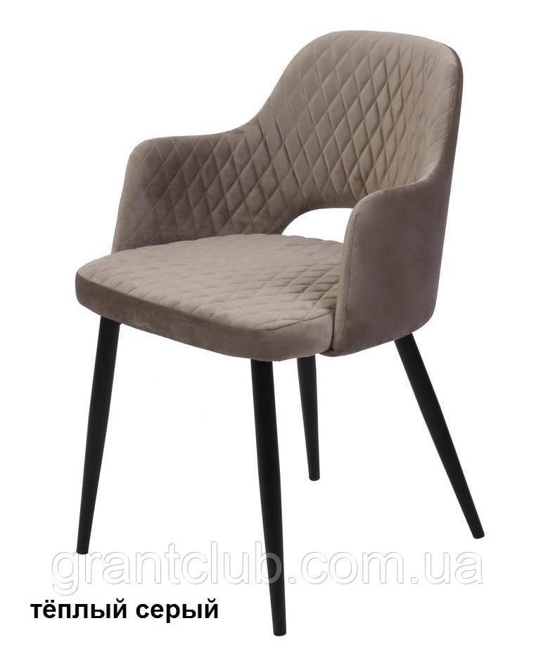 Кресло обеденное JOY велюр тёплый серый Concepto