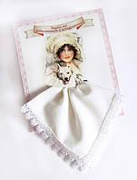 Подарочный женский носовой платок Утрем нос завистникам и конкурентам белый