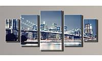 Модульная картина New York City-2 54х123 см (HAB-009)