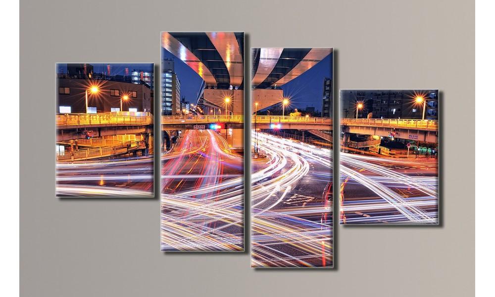 Модульная картина Мегаполис 68х110 см (HAF-012)