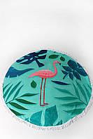 Женский пляжный коврик с фламинго