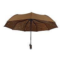 """Жіночий парасольку-напівавтомат Flagman """"Зоряне небо"""", коричневий, 711-8, фото 1"""