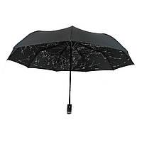 """Жіночий парасольку-напівавтомат Flagman,""""Зоряне небо"""" чорний, 711-9, фото 1"""