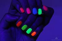 Неоновая гелевая краска Н6 для ногтей голубая
