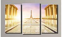 Модульная картина Париж-3 54х91 см (HAT-102)