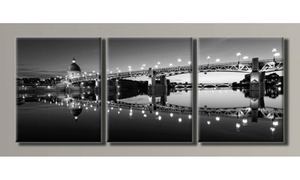 Модульная картина Мост Тулуза 55х139 см (HAT-112)