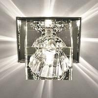 Светильник точечный с кристаллом Feron JD55 прозрачный, прозрачный, фото 1