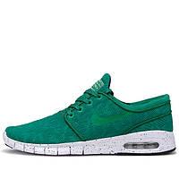 Мужские кроссовки Nike SB Stefan Janoski Max зеленые
