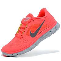 Кроссовки для бега Nike Free Run 3 Найк Фри Ран, розовые р.(36)