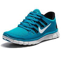 Кроссовки для бега Nike Free Run 5 Найк Фри Ран, бирюзовые - Реплика р.(36)