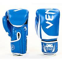 Перчатки боксерские PU на липучке VENUM BO-8352-B