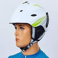 Шлем горнолыжный с механизмом регулировки MOON MS-6287-W