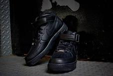 Мужские кроссовки Nike Air Force 1 Mid GS Black 314195-004, Найк Аир Форс, фото 2