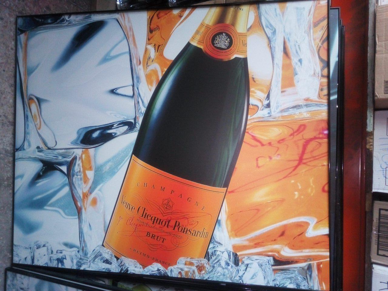 Постер в алюминиевой рамке Вдова Клико 1050*805мм Veuve Clicquot