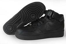 Мужские кроссовки Nike Air Force 1 Mid GS Black 314195-004, Найк Аир Форс, фото 3