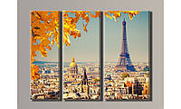 Модульная картина Париж-2 54х73 см (HAT-070)