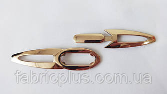 Пряжка разъемная 12 мм металл. золото