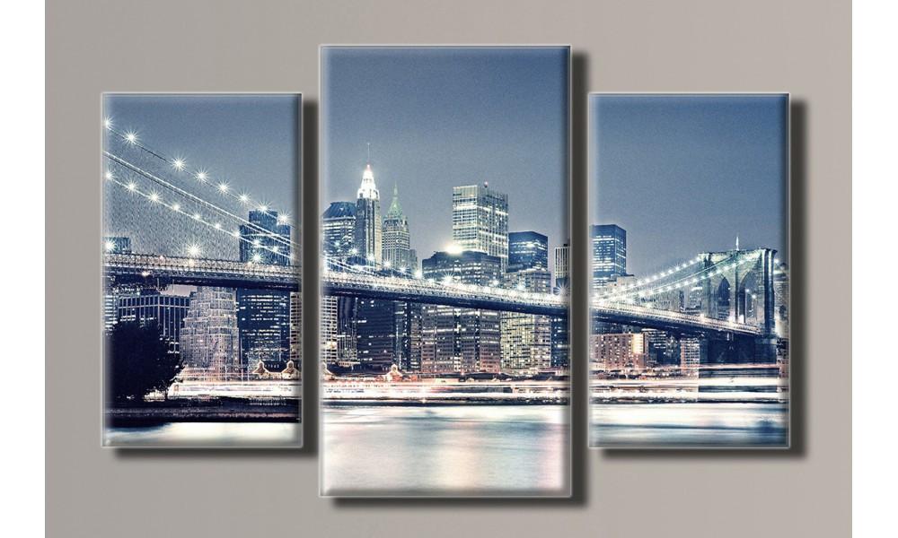 Модульная картина New York City-3 54х82 см (HAT-073)