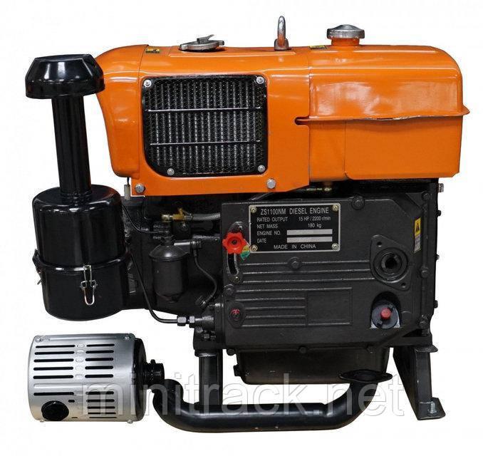Мотор для мотоблока, ZS1100E, мотор 15 л.с.