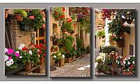 Модульная картина Улица в цветах-3 55х100 см (HAT-193)