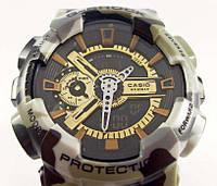 Мужские кварцевые наручные часы Casio G-Shock GA100 GW Military, хаки, фото 1