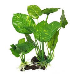Искусственное растение Yusee анубиасы на корню 15x10x22см