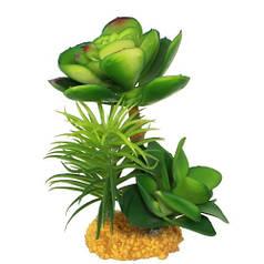 Искусственное растение Yusee Толстянка молодая 16x14x14см