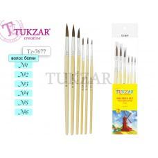 TZ 7677 Набор кистей из волоса белки, 6шт., № 1, 2, 3, 4, 5, 6