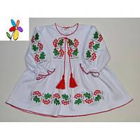 Платье с вышивкой Калина для девочки Размер 86, 92 см