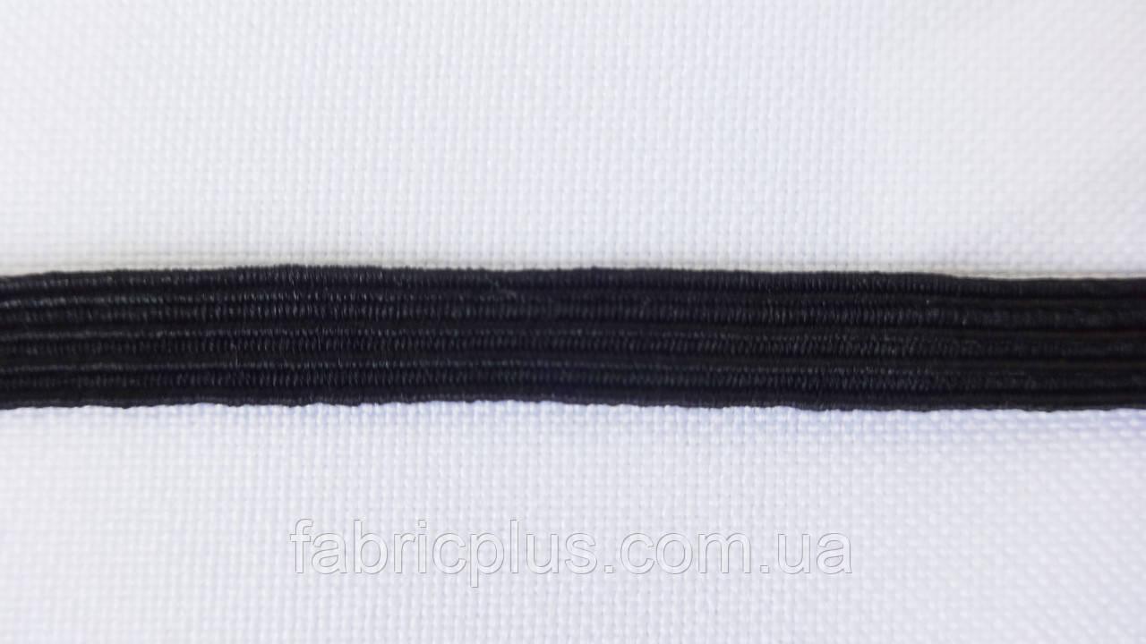 Резинка плоская 6.5 мм черная