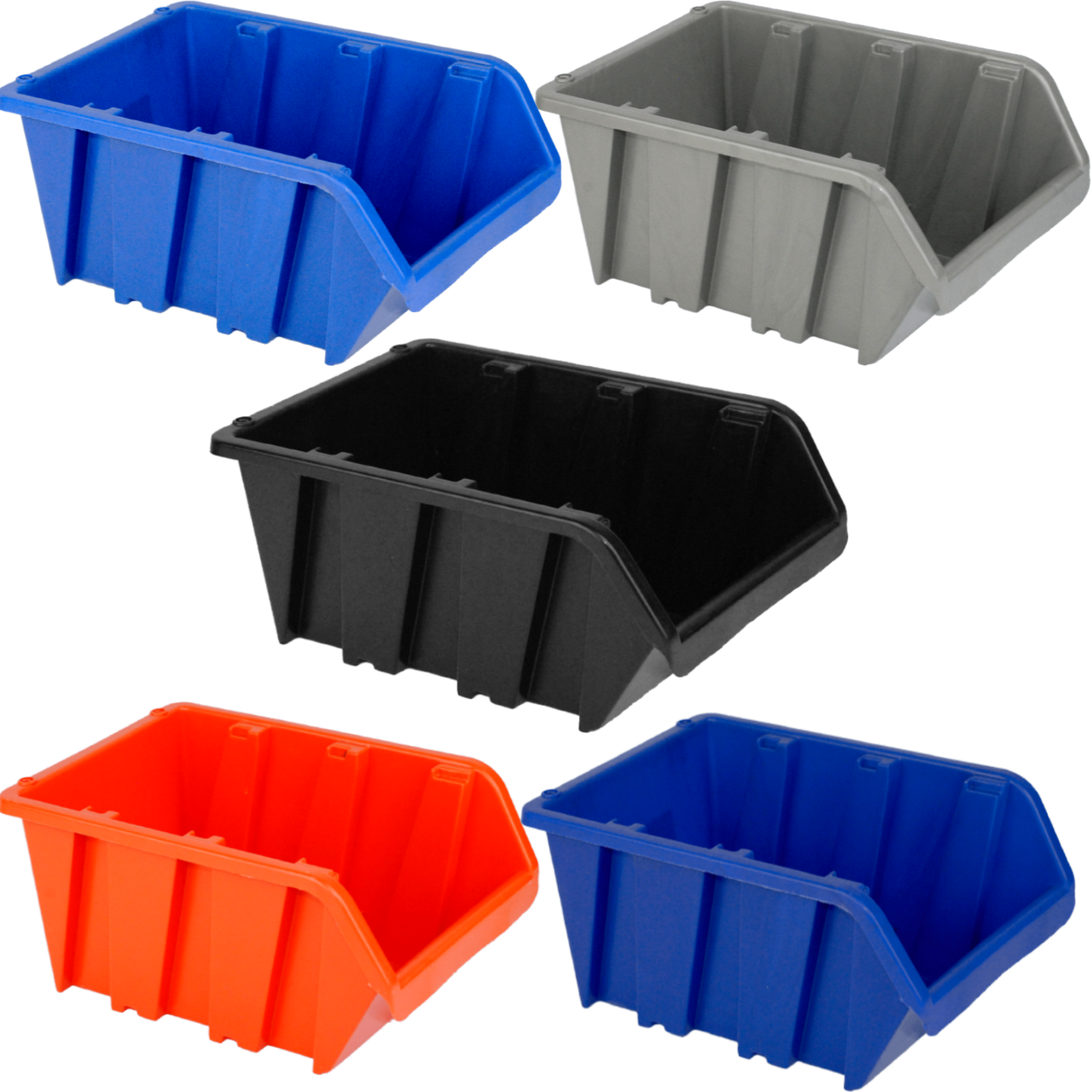 Ящик для метизов вставной средний  230х160х120 мм Синий