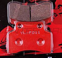 """Колодки тормозные (диск)   Active   """"YONGLI""""   (красные)"""