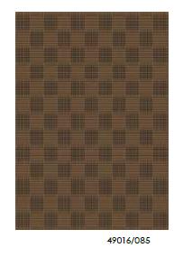 Безворсовый ковер-рогожка Balta Natura сшитые квадраты темно-коричневый