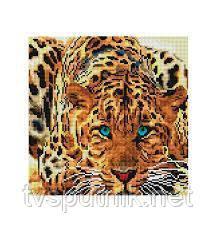 Мозаика на подрамнике Белоснежка Леопард, фото 2