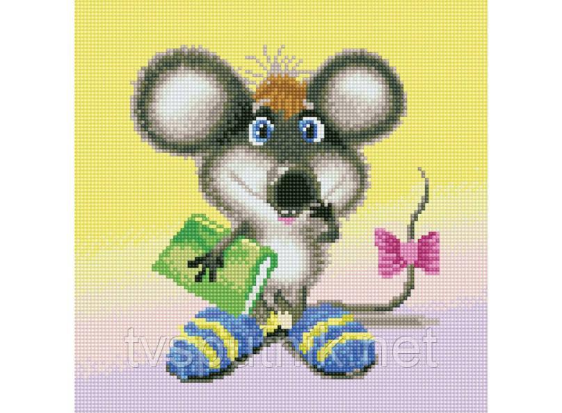 """Алмазная мозаика на подрамнике """"Ученый мышонок"""""""