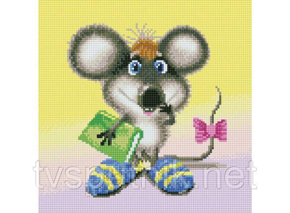 """Алмазная мозаика на подрамнике """"Ученый мышонок"""", фото 2"""