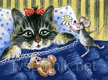 "Картина за номерами ""Кіт і мишка"", фото 2"