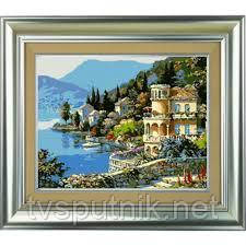 Картина по номерам Белоснежка «Вилла на берегу озера» 361-CG