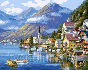 Картина по номерам Белоснежка «Хальштадт. Австрия »363-CG