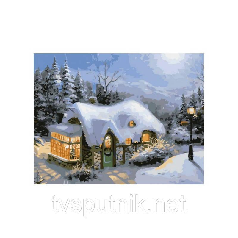 Картина по номерам Белоснежка «Зимний вечер» 831-AB