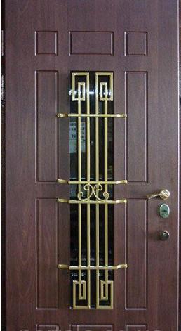 """Вхідні металеві двері з ковкою і склом для вулиці """"Порталу"""" (Еліт Vinorit) ― модель Кування 25"""