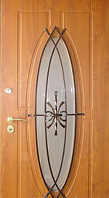 """Входная металлическая дверь для улицы """"Портала"""" (Элит Vinorit) ― модель Ковка 27, фото 1"""