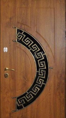 """Входная дверь с ковкой и стеклом для улицы """"Портала"""" (Элит Vinorit) ― модель Ковка 24"""