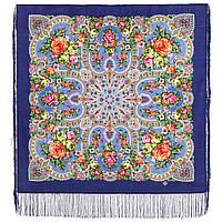 Аврора 1841-13, павлопосадский платок шерстяной  с шелковой бахромой, фото 1