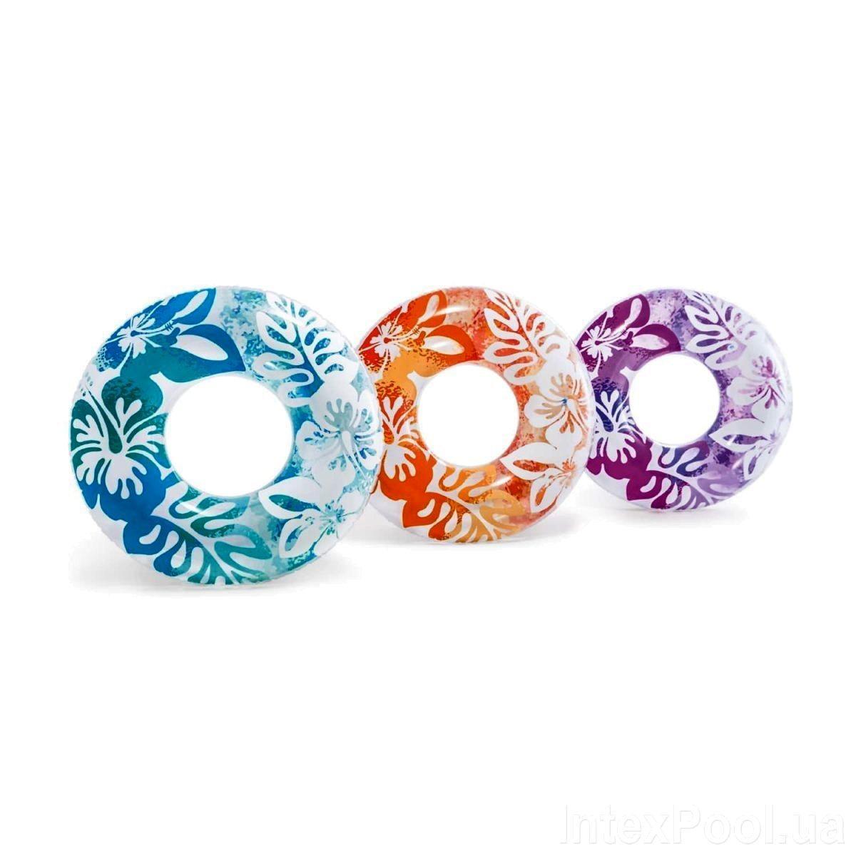Надувной круг Intex 59251 «Перламутр», 91 см, Три цвета