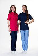 Красный женский медицинский костюм Мико (х-б)