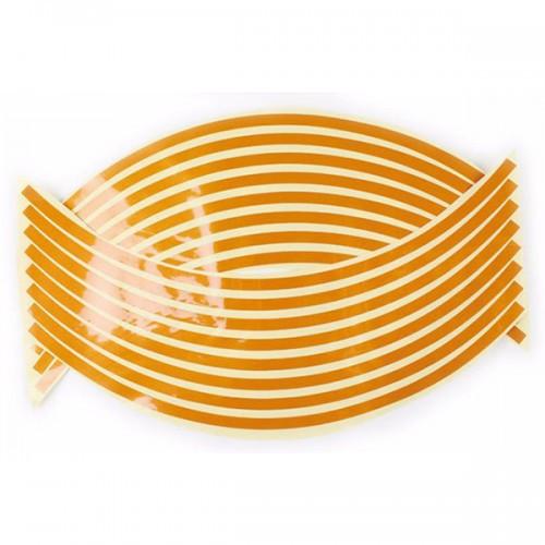 Наклейки на обод колеса 17'' Оранжевый