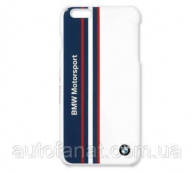 Оригинальная крышка BMW для Apple iPhone 6, Motorsport Mobile Phone Case, White (80282406092)
