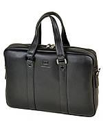Мужской кожаный портфель BRETTON BE 9318-2 черный натуральная кожа под документы А4 39х28х9см